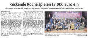 Waiblinger Kreiszeitung über Cook meets Rock Vol.4